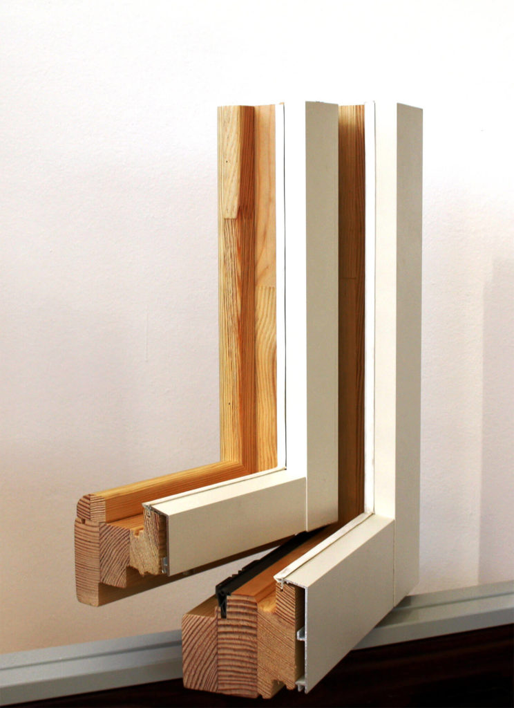 legno alluminio dettaglio