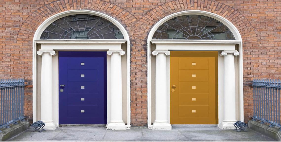 porte blindate colorate per esterni