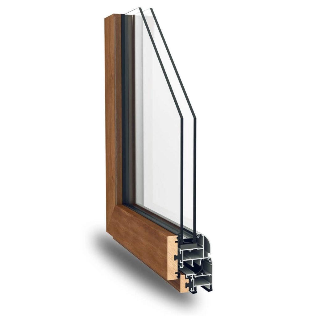 alluminio effetto legno sezione