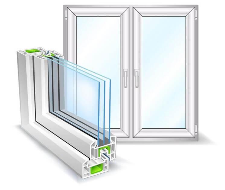 vetrocamera sezione per vetro finestra