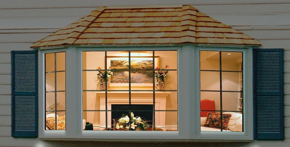 finestre a bovindo vista dall'esterno di casa