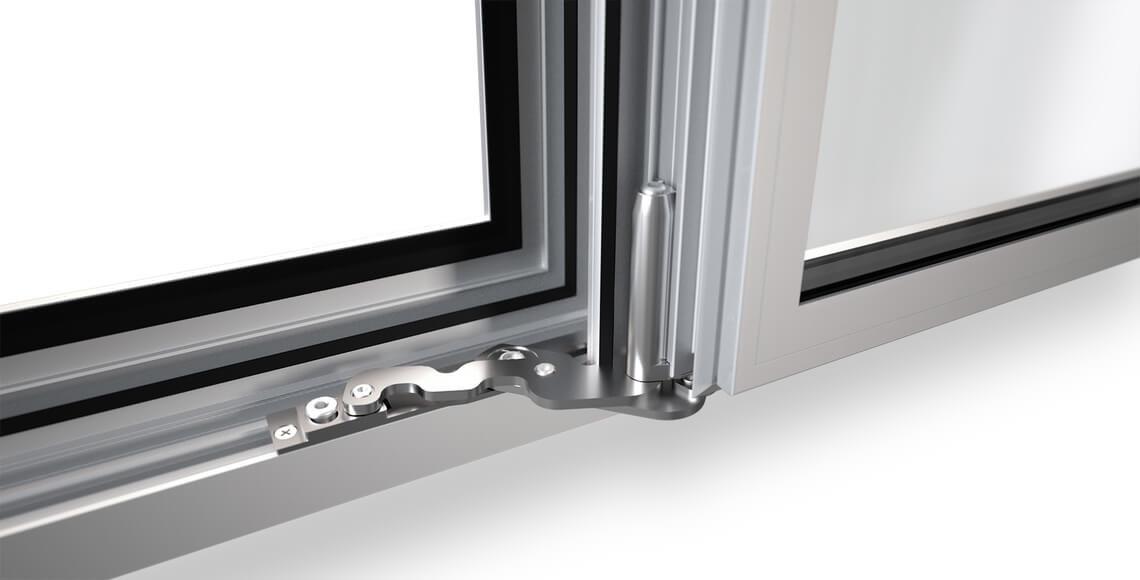 finestra alluminio con cerniere a scomparsa