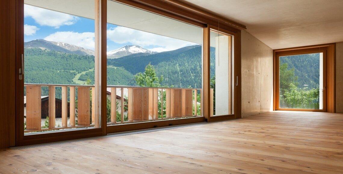 stanza tutto legno serramenti