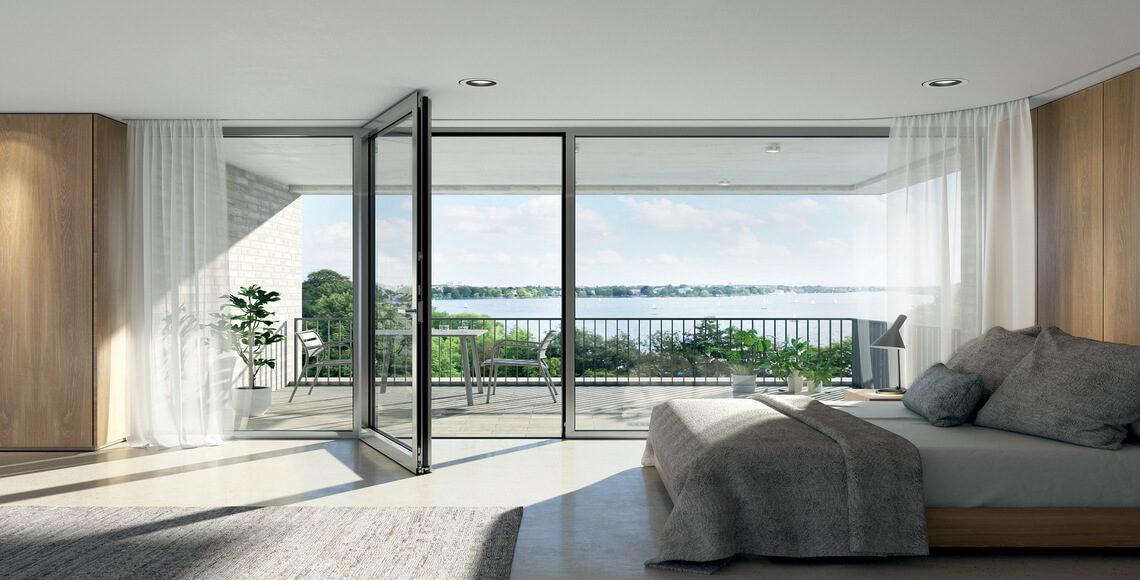soglia ribassata porta finestra stanza da letto