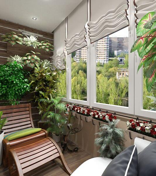 giardino d'inverno realizzato in terrazzo appartamento
