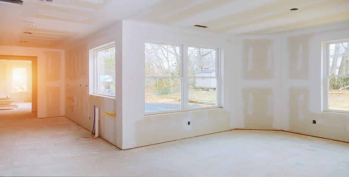 rapporto aeroilluminate in un'abitazione in costruzione