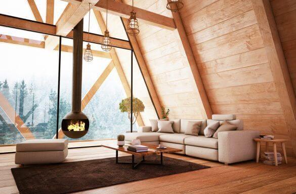 interno di baita in montagna