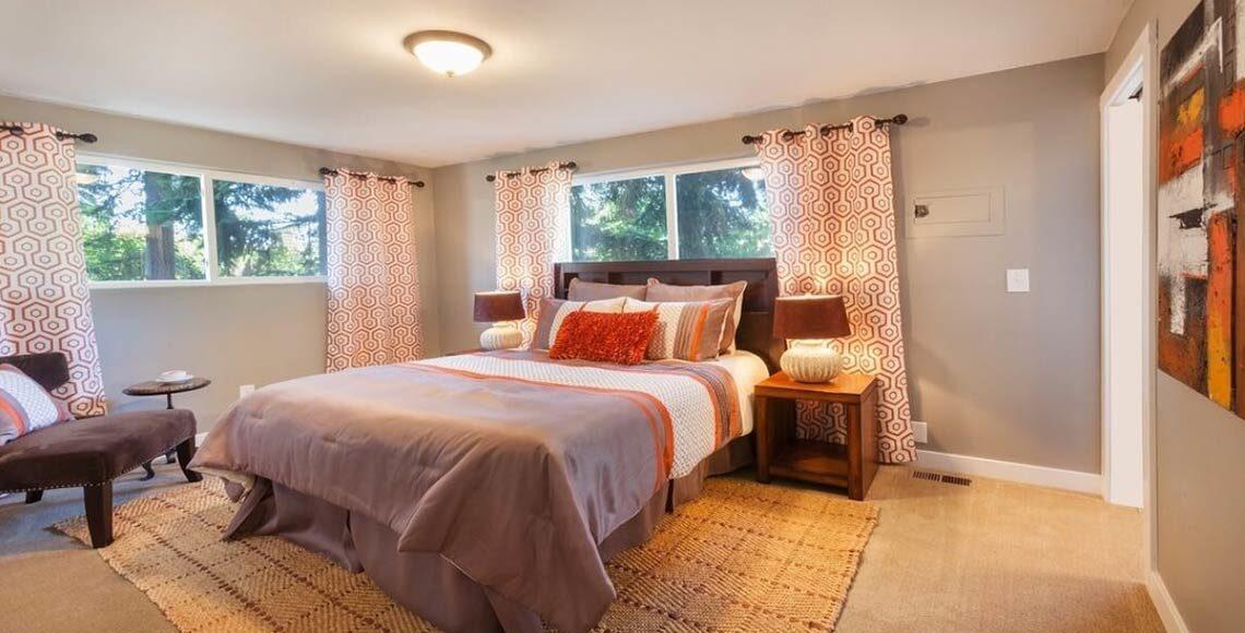 tende per camera da letto